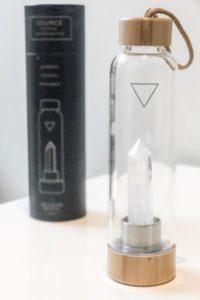 Crystal Water Bottle - Clear, Amethyst, or Rose Quartz