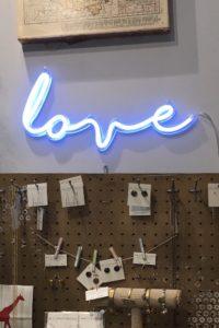 """""""Love"""" Neon-like Wall Lamp"""